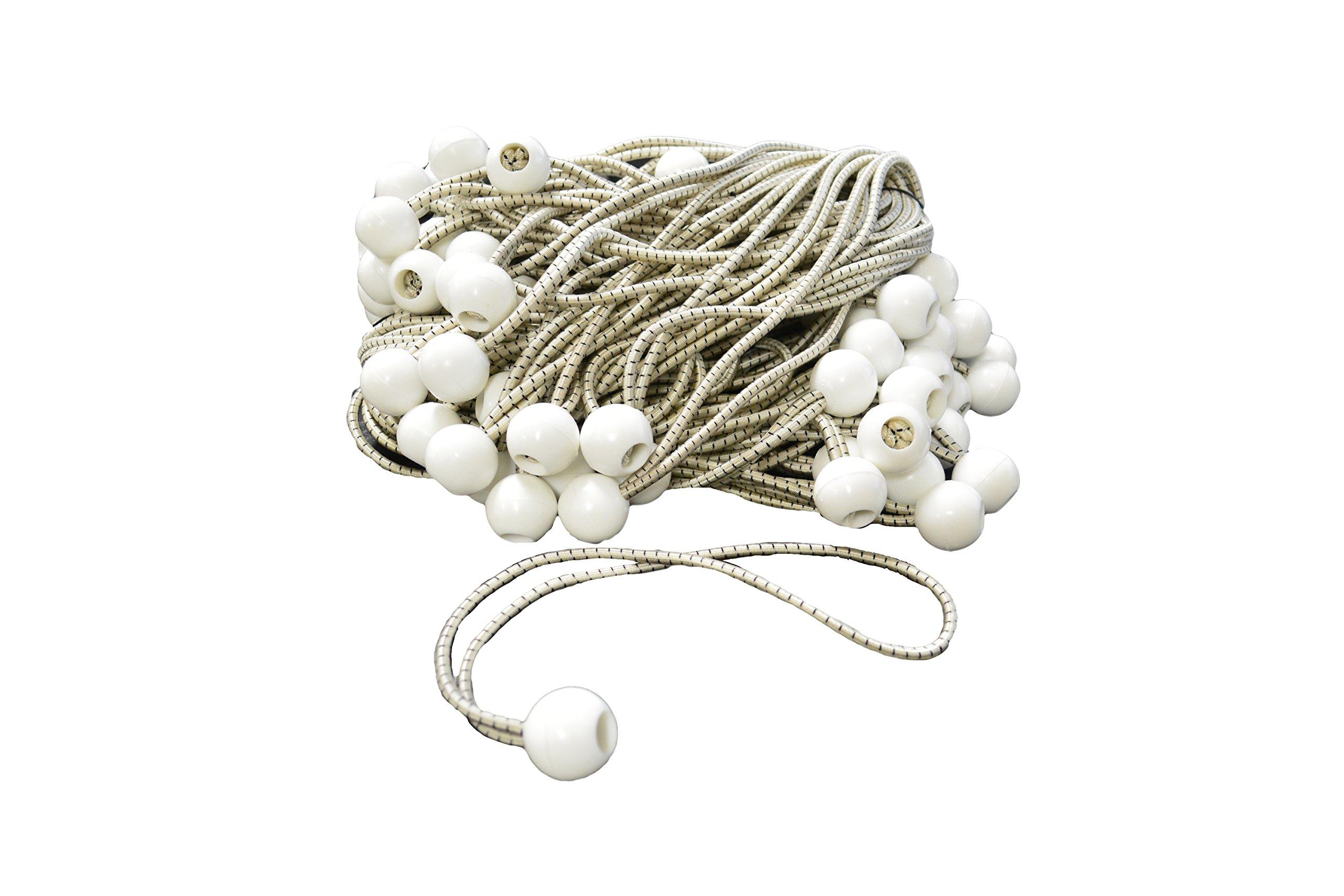 11'' White Bungee Tarp Balls (100 Pack)