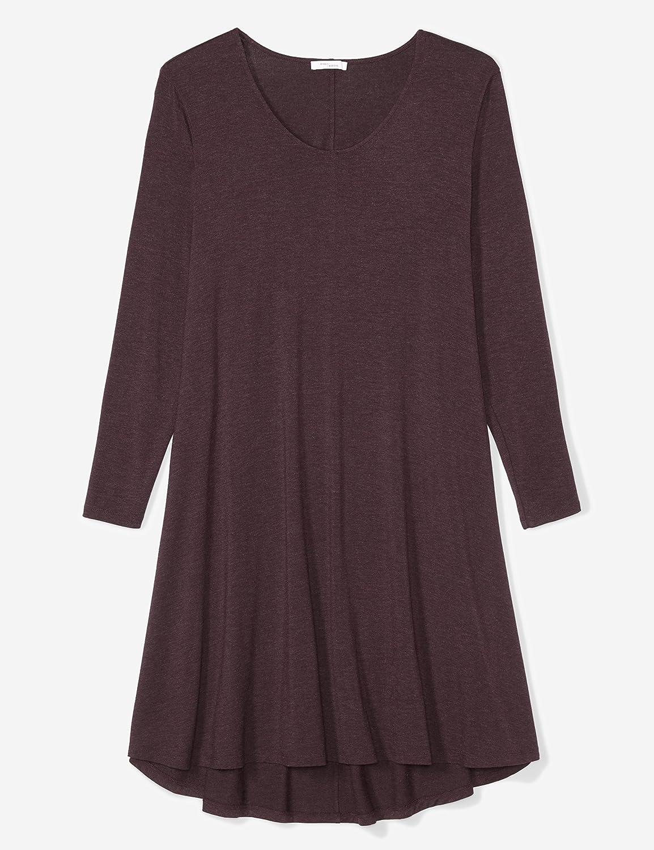Brand Daily Ritual Womens Plus Size Jersey Long-Sleeve V-Neck Dress
