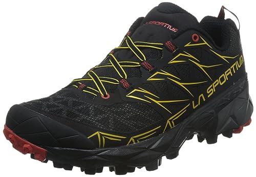La Sportiva Akyra, Zapatillas de Trail Running para Hombre, Multicolor (Ocean/Flame 000), 46 EU
