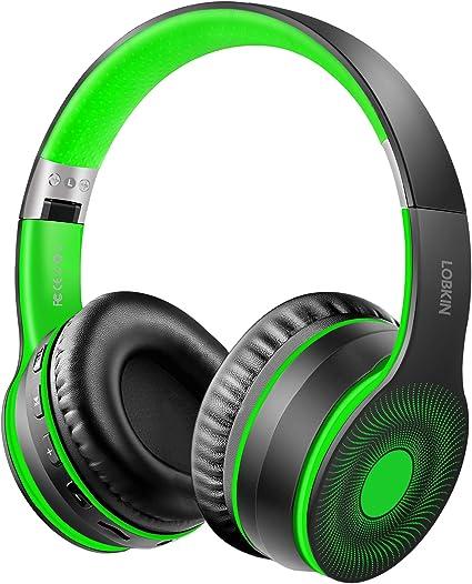 LOBKIN Cuffie Wireless Bluetooth, Supporto per connessione Pieghevole e cablata, Musica WirelessCuffie MP3 con MicroTF, Lettore MP3, Radio FM per