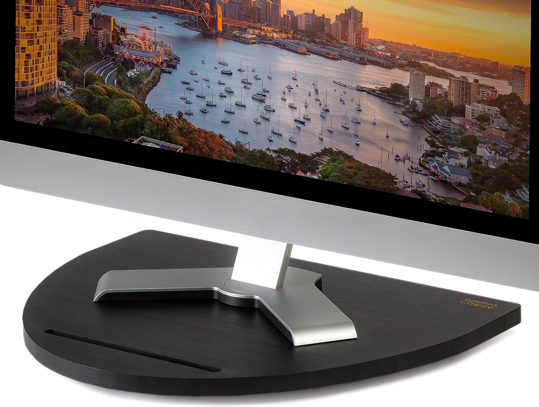 Prosumers Choice - Soporte Giratorio de bambú para televisor (Giratorio, 53,3 cm), Color Negro: Amazon.es: Hogar