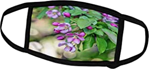 3dRose Pink Apple Flowers, Purple Buds, Fresh Green Leaves. Beauty of. - Face Covers (fc_305328_3)