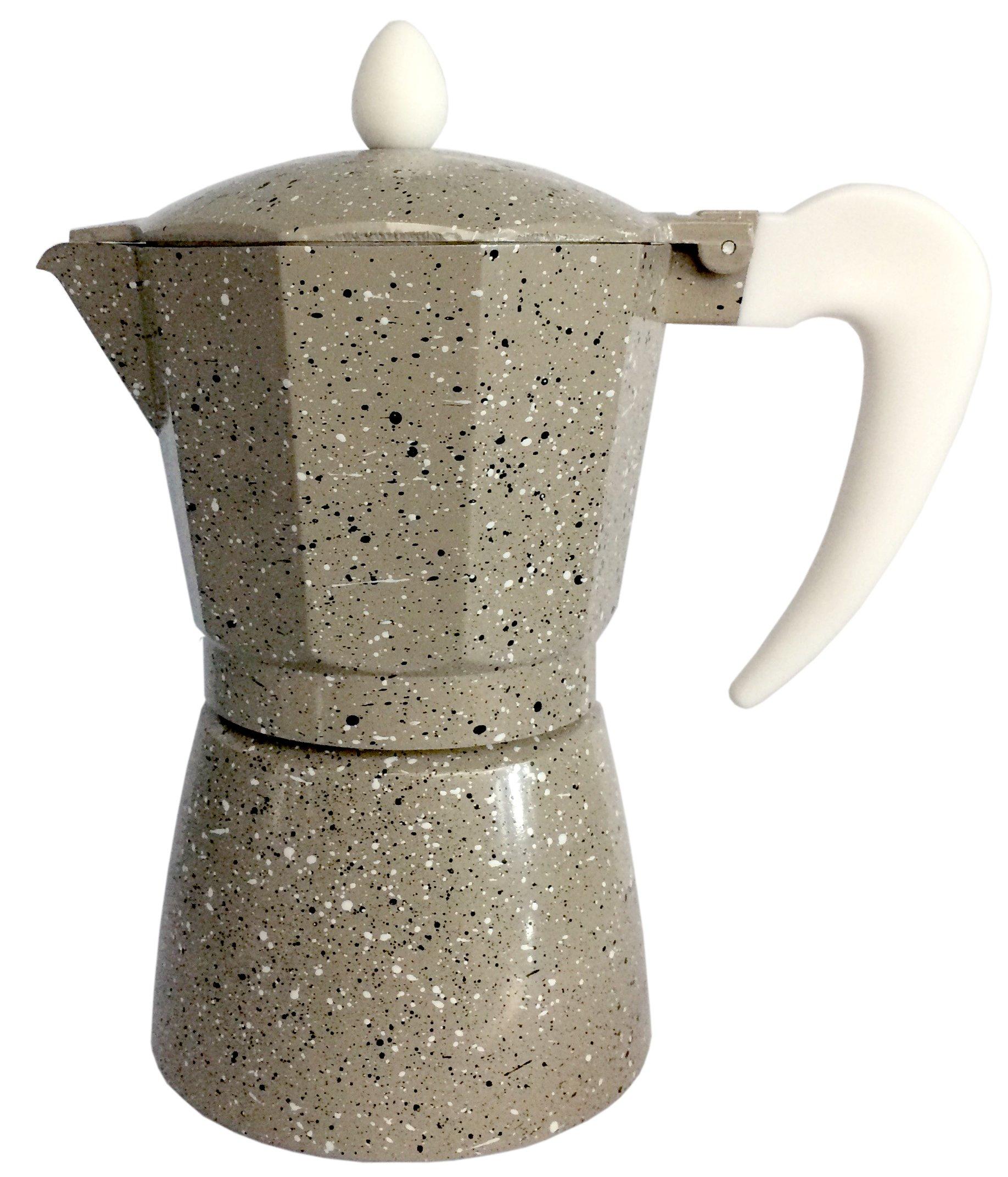 Cuisinox Crema COF-12MA 12-Cup Espresso Stovetop Coffeemaker, Beige