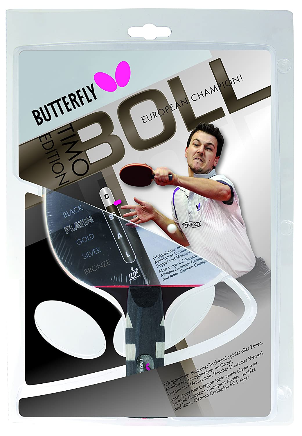 Amazon.com : Butterfly Timo Boll Platin Table Tennis Bat - Multi-Colour : Sports & Outdoors