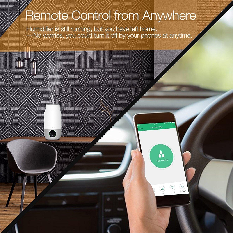 Oittm Humidificador Inteligente 3L con APP Control Humidificador Ultrasonico 3 Modo de Bruma Humectantes para el Hogar / Yoga / Oficina / Spa / Habitación ...