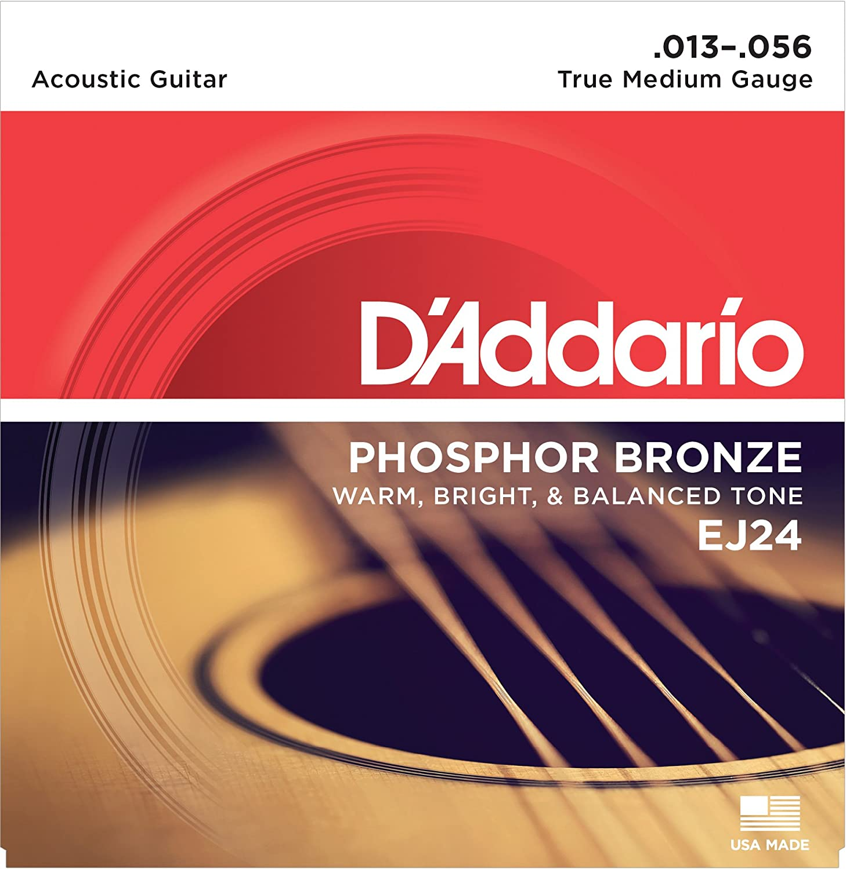 DAddario EJ16-10P - Juego de cuerdas para guitarra acústica de fósforo/bronce.012 - .053: Amazon.es: Instrumentos musicales