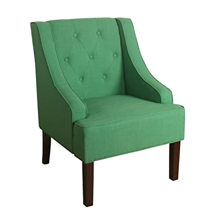 Genial HomePop Kate Tufted Swoop Arm Accent Chair Kelly Green