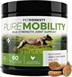 PureMobility Glucosamine for Dogs - Premium Dog Joint Supplement Support with Glucosamine, Green-Lipped Mussel, Collagen…