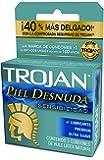 Trojan Condón Piel Desnuda, 3 piezas