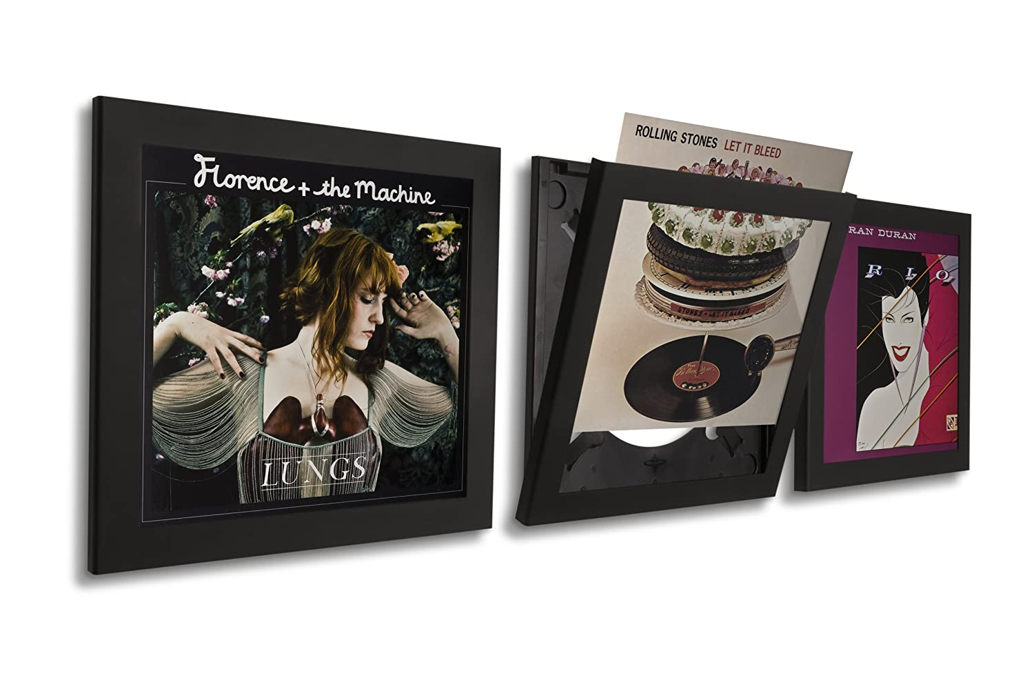 Amazon.com - Art Vinyl Play and Display Record Frame, 3-Pack, Black ...