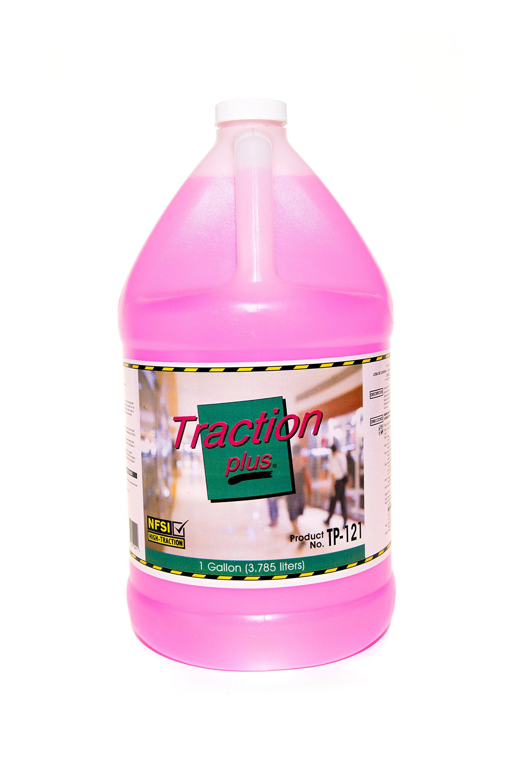 Traction Plus TP-121 - Slip Shield Traction Treatment And Floor Maintainer - 1 Gallon Bottle