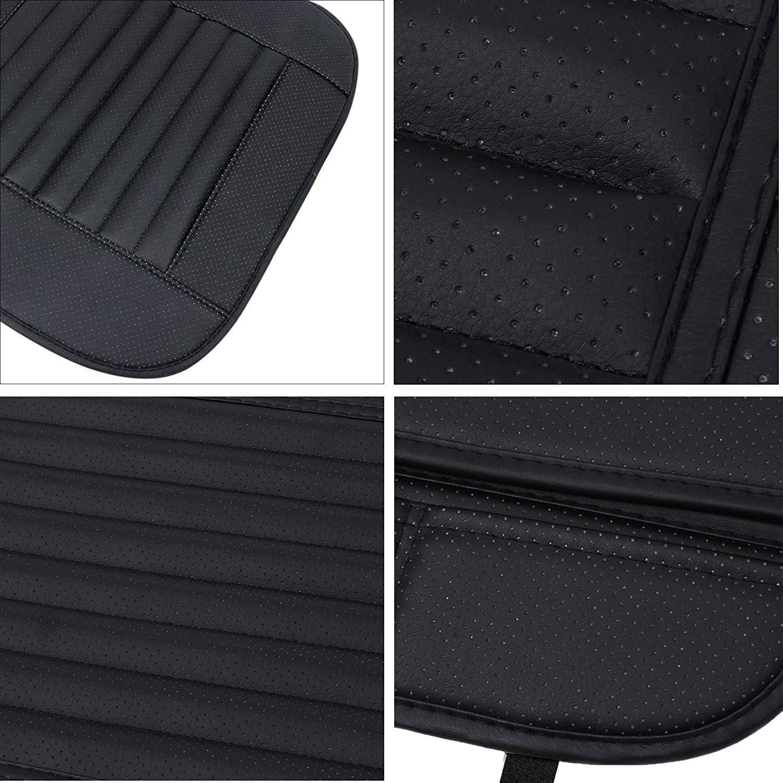 1 Pacco Coprisedile Anteriore HONCENMAX Cuscino del Sedile Interno Auto Copertina Tampone Stuoia Pelle Sintetica Sede Singola Senza Schienale