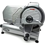 "KWS Commercial 320w Electric Meat Slicer 10"" Frozen Meat Deli Slicer Coffee Shop/restaurant and Home Use Low Noises (Teflon Blade--Back)"