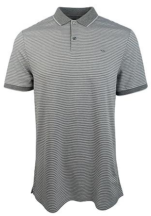 c8ea03af Michael Kors Men's Striped Polo Shirt-AM-XL at Amazon Men's Clothing ...