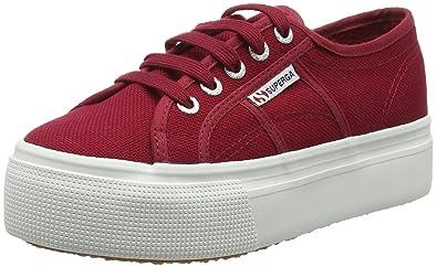 Superga Red Flatforms
