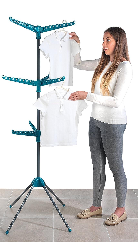 182 x 50 x 100 cm Metal Beldray LA023810TQ Turquoise 18 Metre Clothes Airer