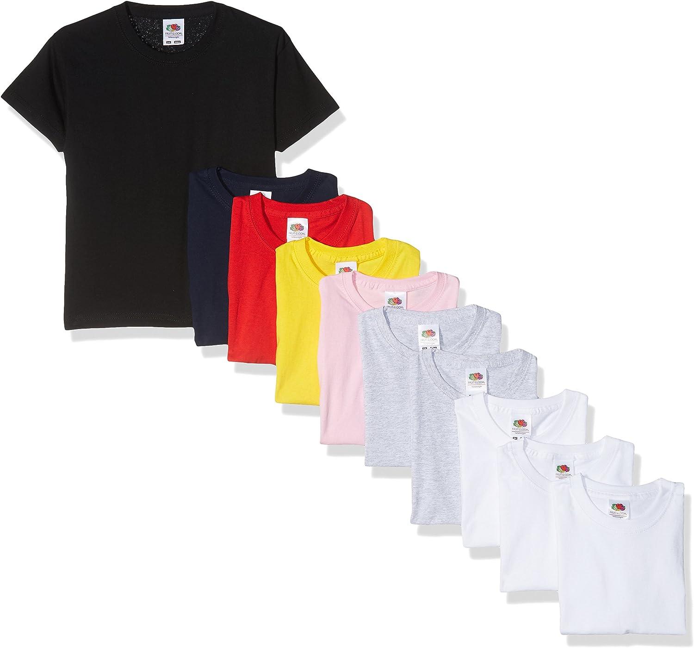 Fruit of the Loom, Camiseta para Niños (Pack de 6): Amazon.es: Ropa y accesorios