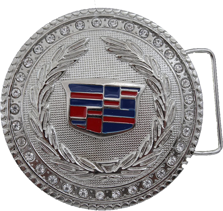 Men Women Silver Metal Fashion Belt Buckle  Car Sign Cadillac Emblem Logo