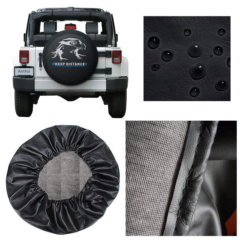 YBB Waterproof Reserveradabdeckung Anh/änger LKW und mehr SUV staubdicht Radreifenabdeckung f/ür Jeep RV