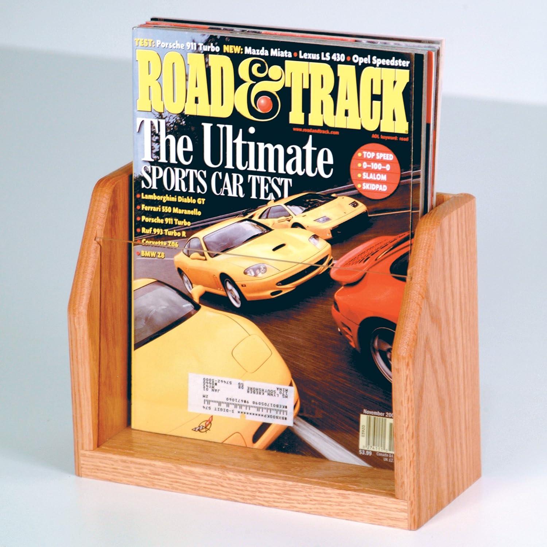 Amazon.com : DMD Magazine Rack, 1 Pocket Countertop Display with Light Oak Wood Finish : Office Products