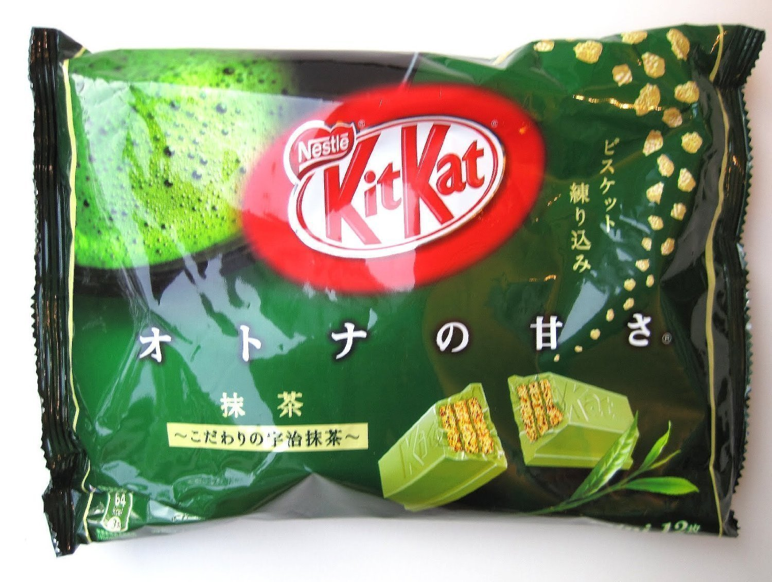 Japanese Kit Kat Maccha Green Tea Flavor (5 Bag) (4.91oz x 5)