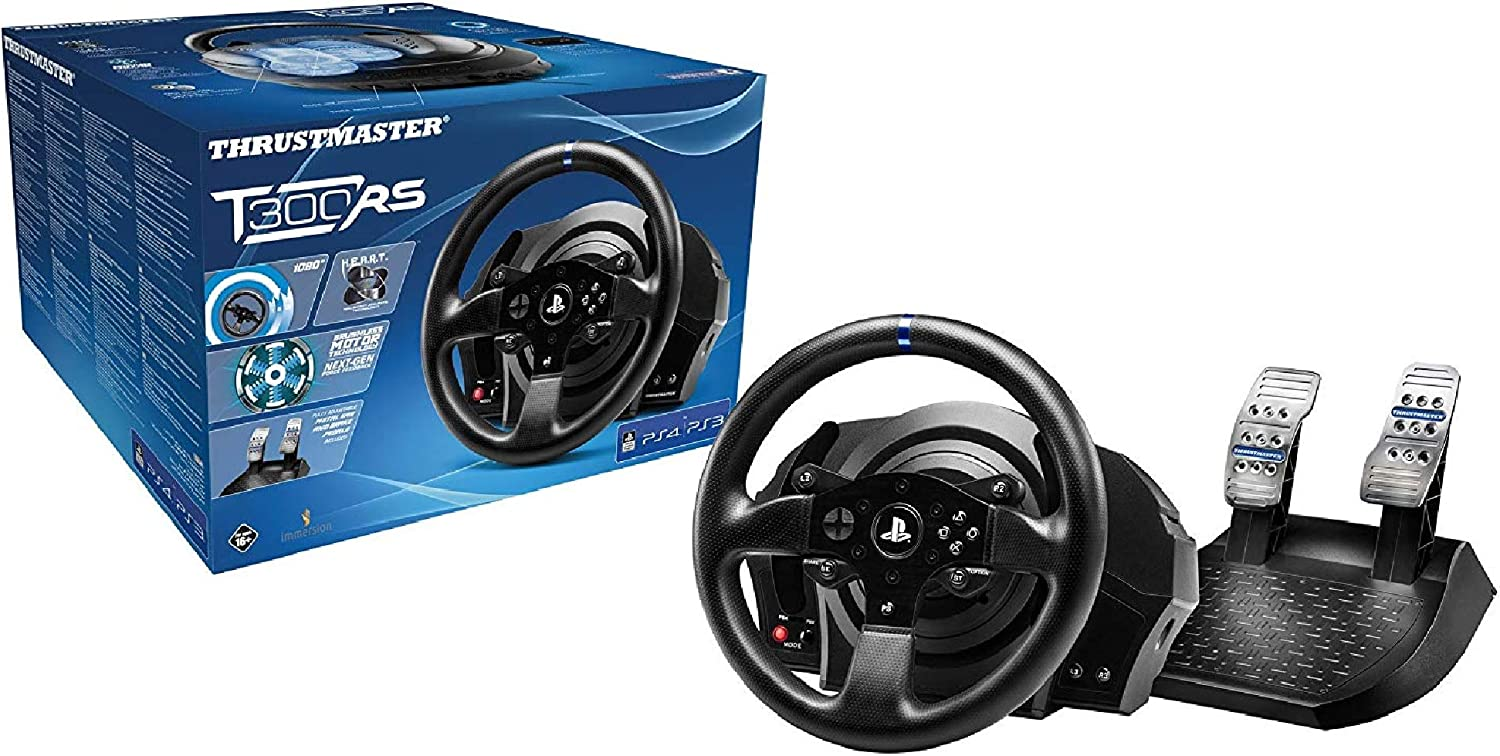 Thrustmaster T300 RS (Wheel inkl. 2-Pedalset, Force Feedback, 270° - 1080°, Eco-System, PS4 / PS3 / PC): Amazon.es: Videojuegos