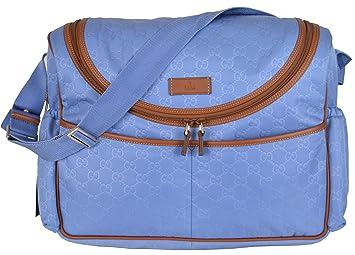 018651a97c8f Amazon.com : Gucci Women's 123326 GG Guccissima Blue Nylon Baby ...
