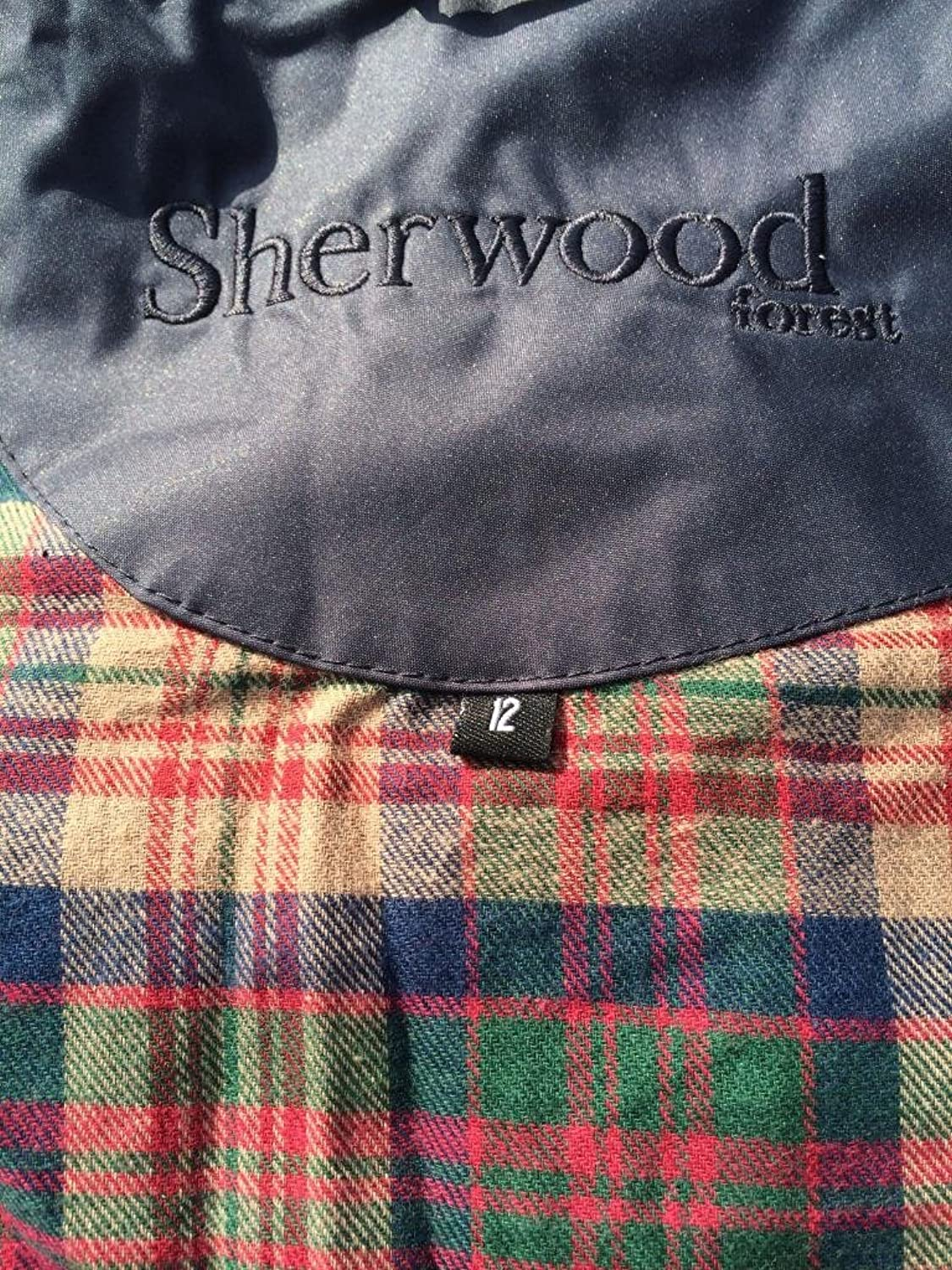 Size 10 Sherwood Oakfield Ragley Superior Quality Full Length Ladies Waterproof Coat - Navy Blue