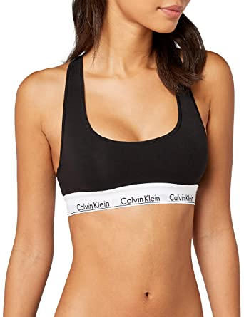 5c2228ee32 Calvin Klein Women s Modern Cotton-Bralette Bustier  Amazon.co.uk  Clothing