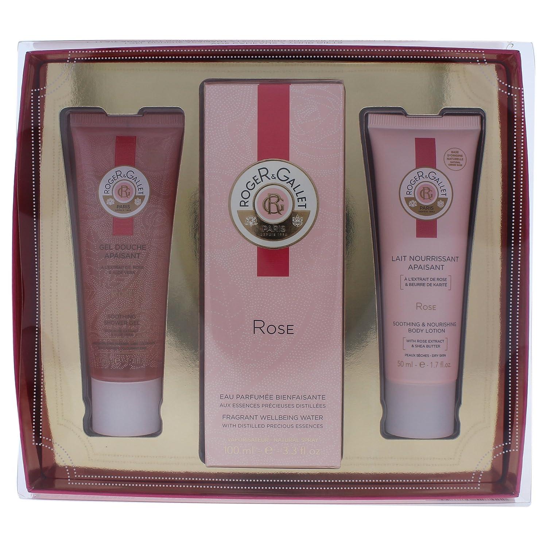 Roger & Gallet Rose 3 Piece Gift Set for Women 3337875527422