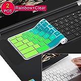 [2Pcs] Keyboard Cover for Lenovo Chromebook C330,Lenovo Chromebook N20 N21 N22 N23 100e 300e 500e 11.6 inch Chromebook, Lenovo Chromebook N42 N42-20 14 inch Chromebook(Rainbow)