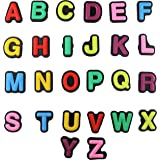 Alphabet 26 pcs Letters Charms for Shoes with Holes & Charm Bands & Shoes & Bracelet Wristband Kids Party Birthday Gifts, Hal