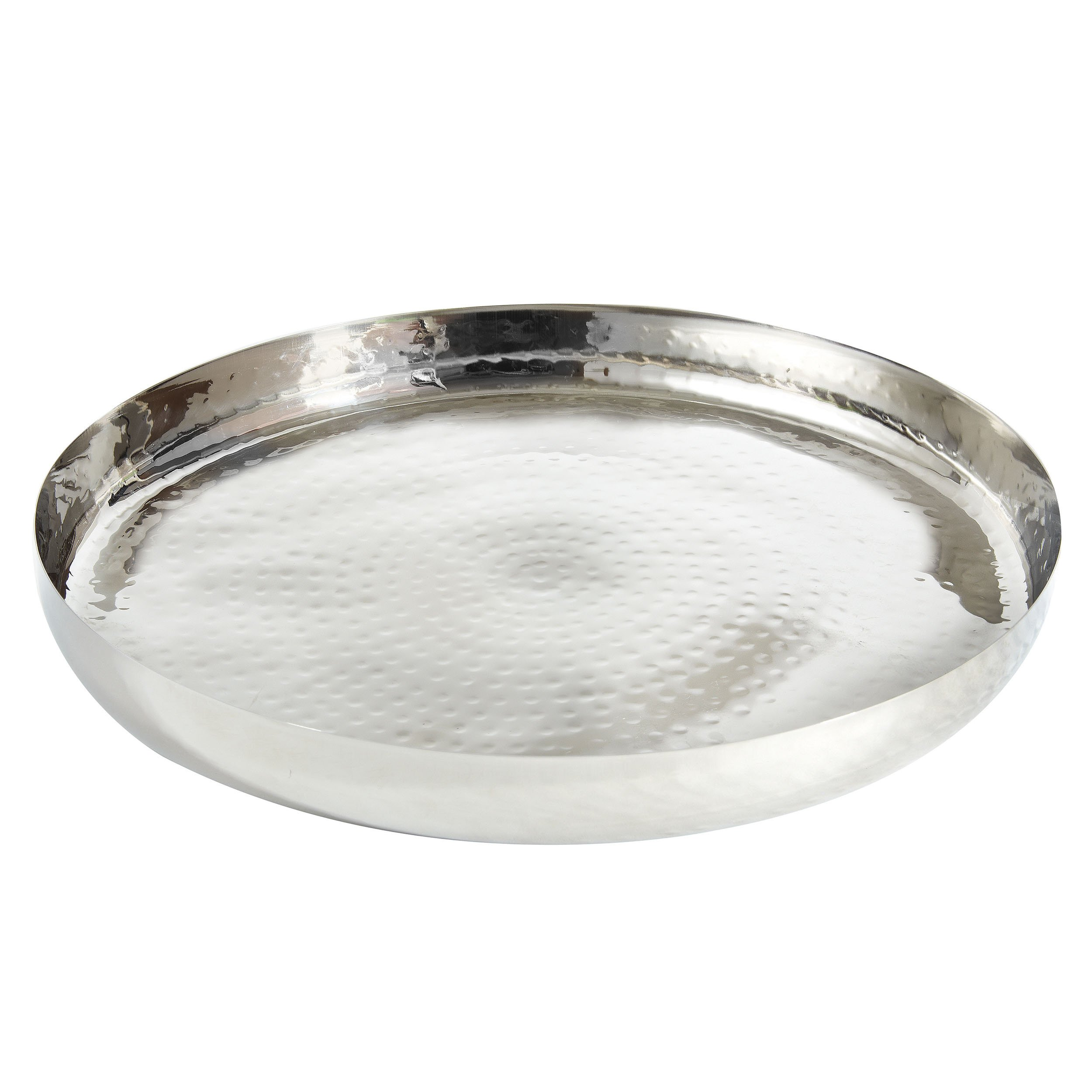 Elegance 72577 Round Tray Serveware Accessories, 16'', Silver