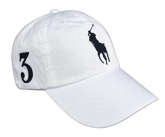 Ralph Lauren - Gorra de béisbol - para hombre Blanco Weiß Talla única: Amazon.es: Ropa y accesorios