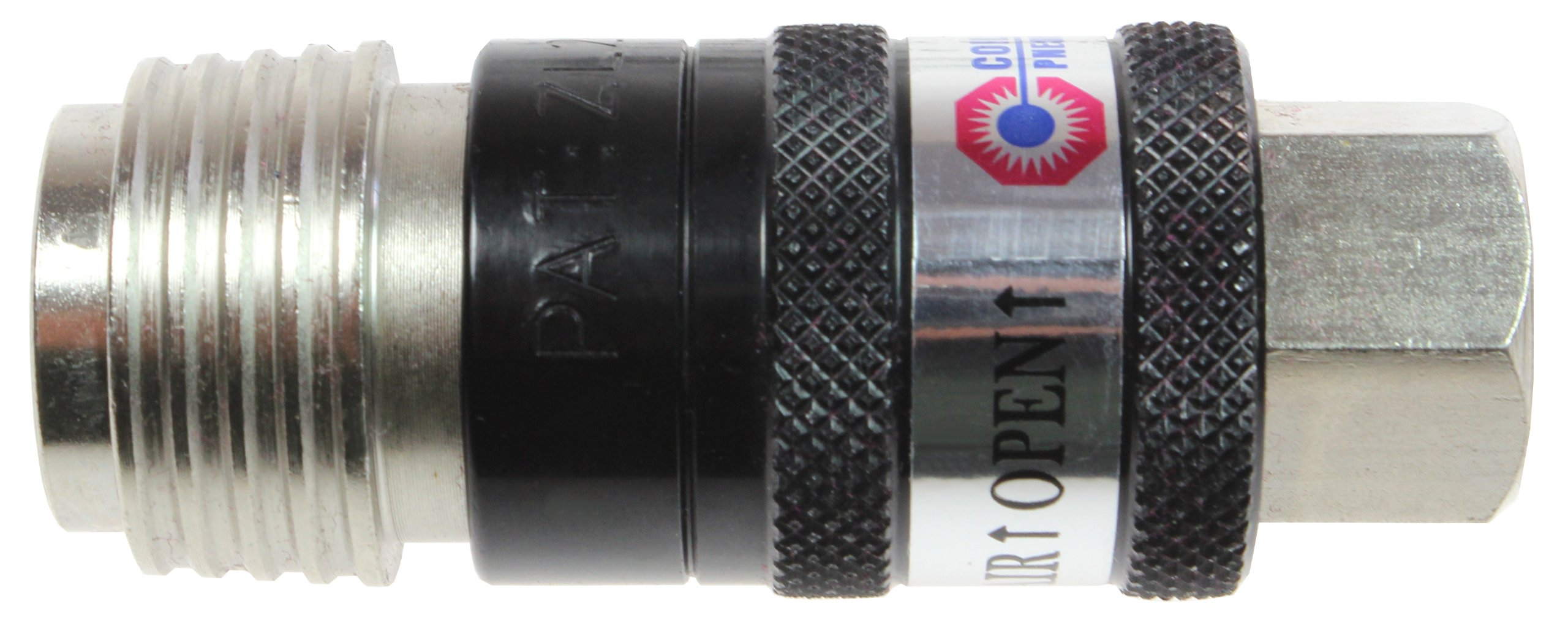 Coilhose Pneumatics 150USE 5-In-1 Automatic Safety Exhaust Coupler, 1/4'' Body x 1/4'' NPT Female, Black/Silver by Coilhose Pneumatics (Image #1)