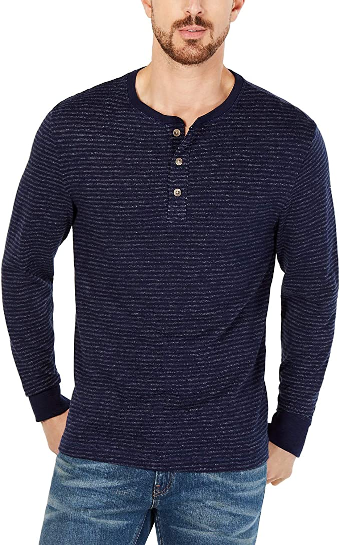 Club Room Mens Casual Long Sleeves Henley Shirt Navy XXXL at Amazon Men's Clothing store