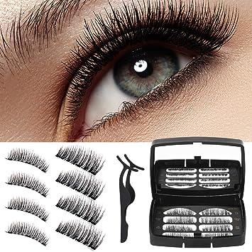 Wesimplelife pestañas magnéticas reutilizables 3D Full Eye ...