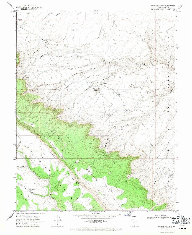 Amazon.com: Utah Maps - 1968 Sooner Bench, UT USGS ...