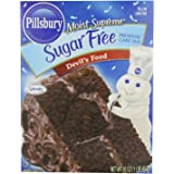 Pillsbury Moist Supreme Sugar Free Devil's Food Cake Mix, 16 Ounces (Pack of 6)