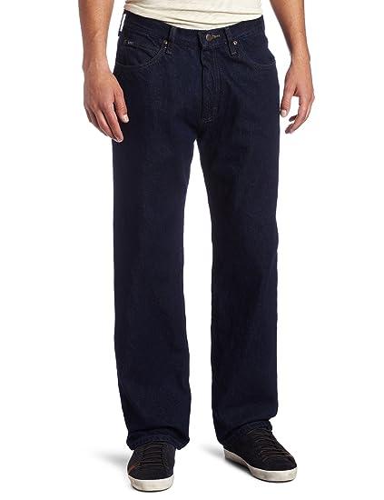 Lee Mens Relaxed Fit Straight Leg Jean, Pepper Prewash, 42W x 30L ...