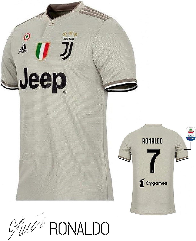 SporteCO - Camiseta de fútbol para Hombre de Equipos Europeos de fútbol como Juventus Ronaldo, PSG Neymar, Real Madrid Modric, Barcelona FC Messi, Medium, Juve 3rd Beige: Amazon.es: Deportes y aire libre