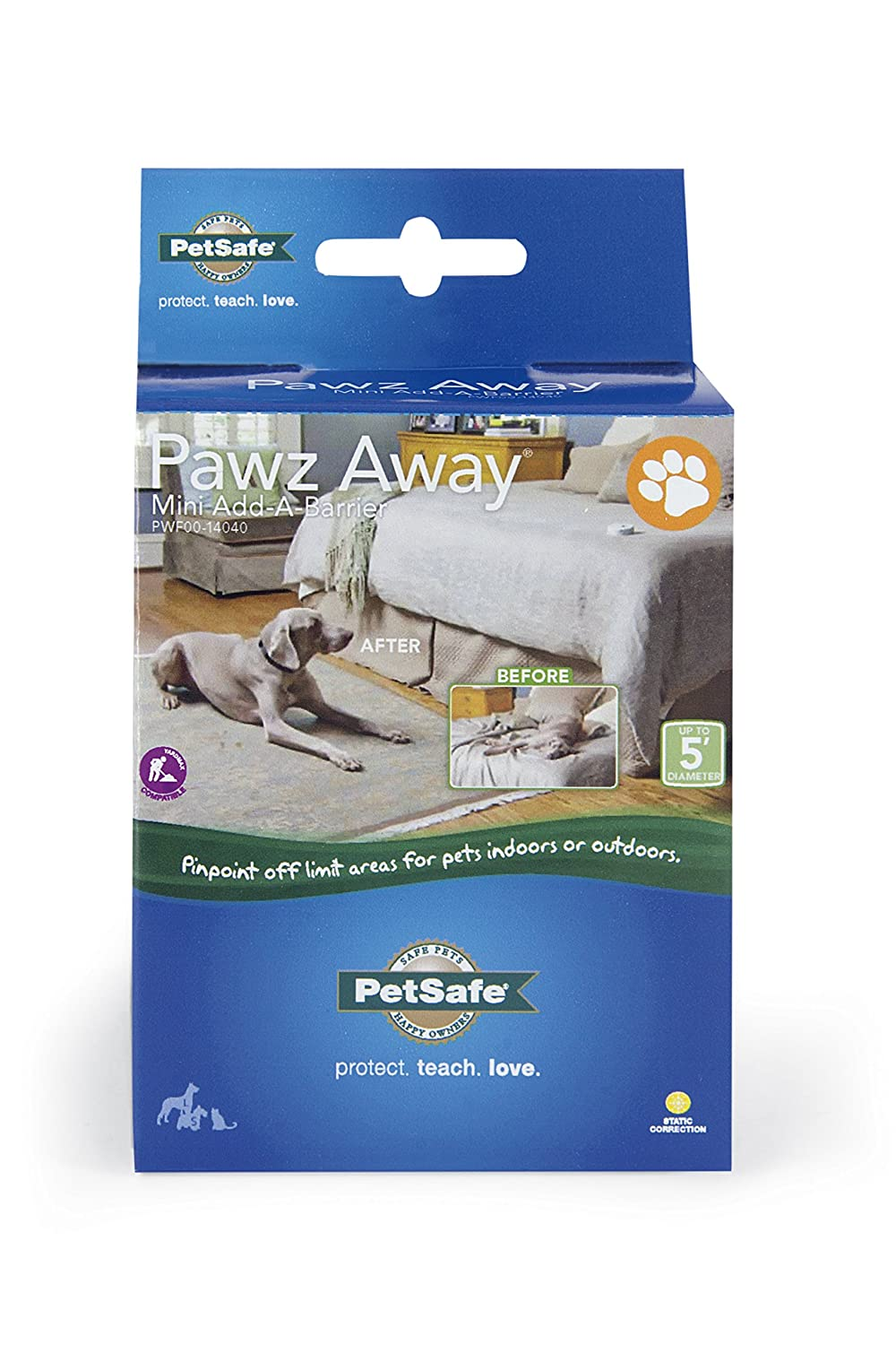 Amazon.com : PetSafe Pawz Away Pet Barriers with Adjustable Range ...