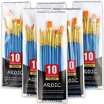 6-Pack Aroic Acrylic Paint Brush Set