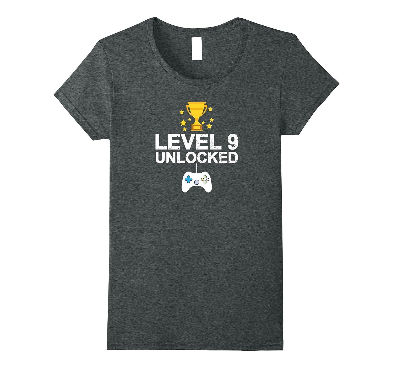 9th Birthday Level 9 Unlocked Funny T-shirt Gamer Gift Baby-Awarplus