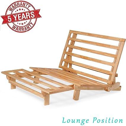 futon home regarding furnishings wood coaster com framed amazon frame traditional awesome
