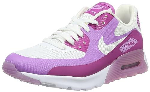 7f6c51e623acde Nike Damen WMNS Air Max 90 Ultra Breathe Sneakers Weiß (White Fuchsia) 36.5