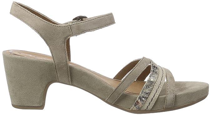 Tamaris 28328 Damen Knöchelriemchen Sandalen mit Blockabsatz