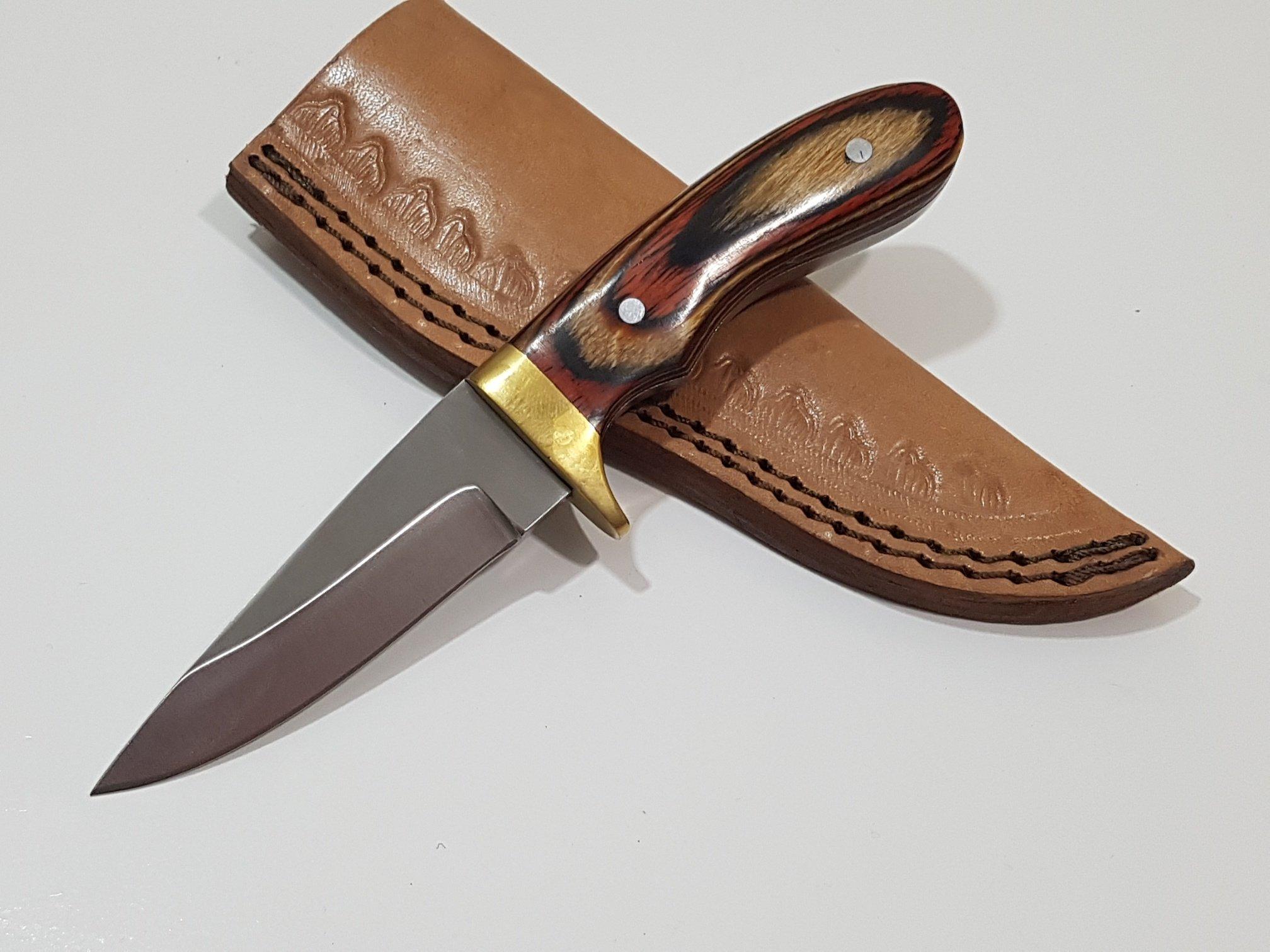 440C Steel FB-35 Custom Handmade Hunting Skinning Camping Knife, 6.5'' ( FULL TANG)