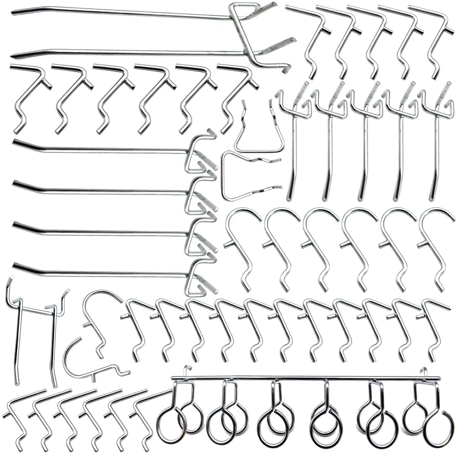 Cankadesot Hook Metal Pegboard and Assorted Shelving 50 Piece