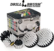 Drillbrush 4 Piece Drill Brush Cleaning Tool Attachment Kit for Scrubbing/Cleaning Tile, Grout, Shower, Bathtub, and All Othe